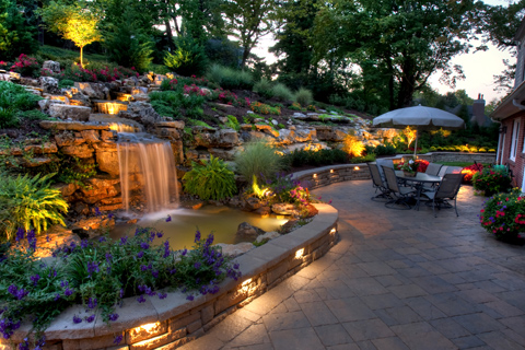 Photos of patio garden ideas water features louisville ky for Landscaping rock louisville ky